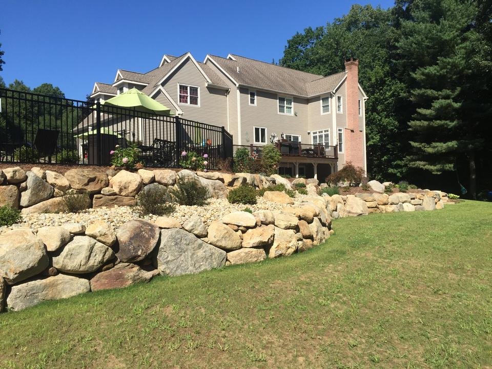 Premier retaining wall in Simsbury CT