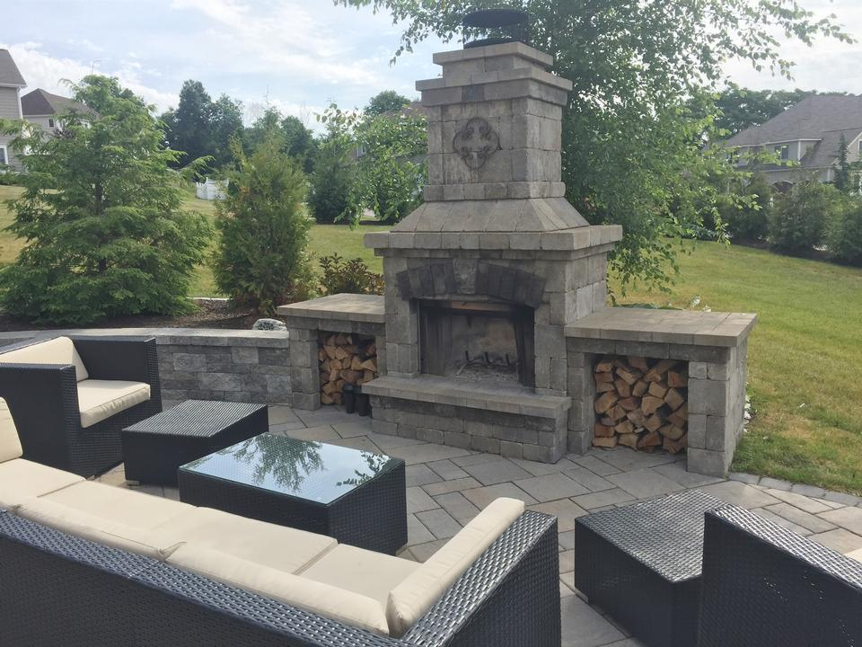 Stunning outdoor fireplace in Weatogue CT